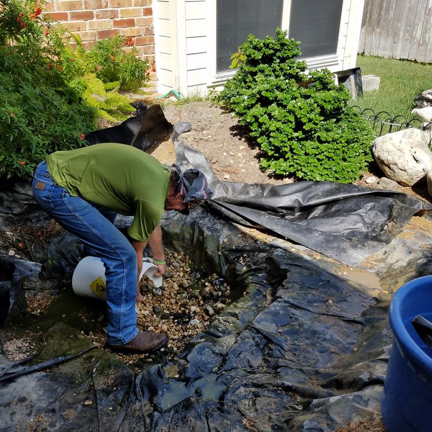 7-Draining Water & Gravel