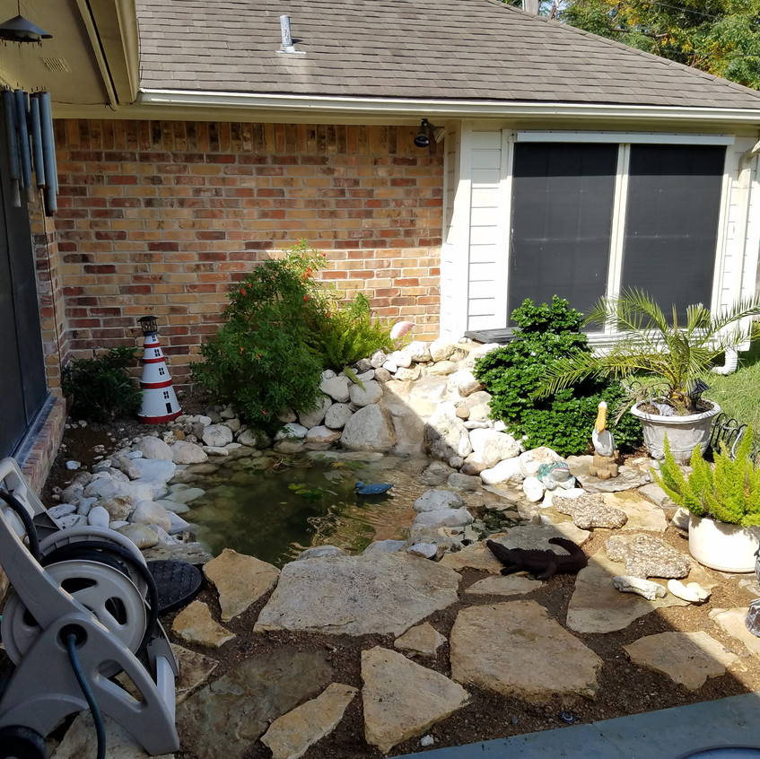 34-Completed Backyard Pond