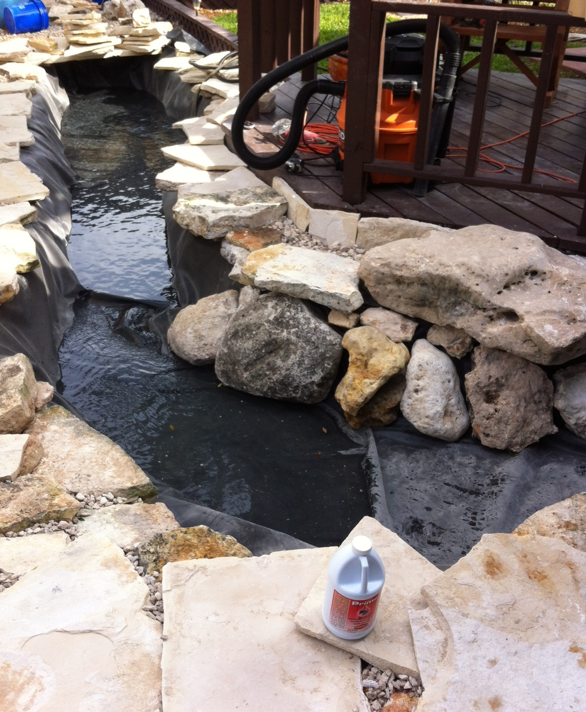 13-Starting to Fill Pond