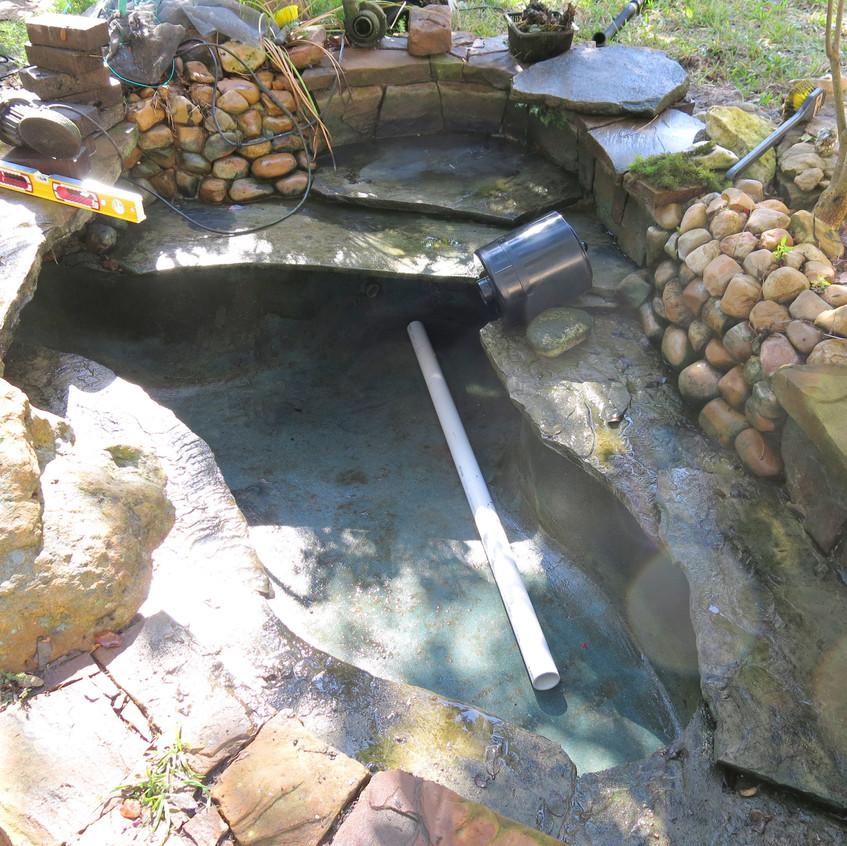 10-Start Plumbing of No Niche Skimmer