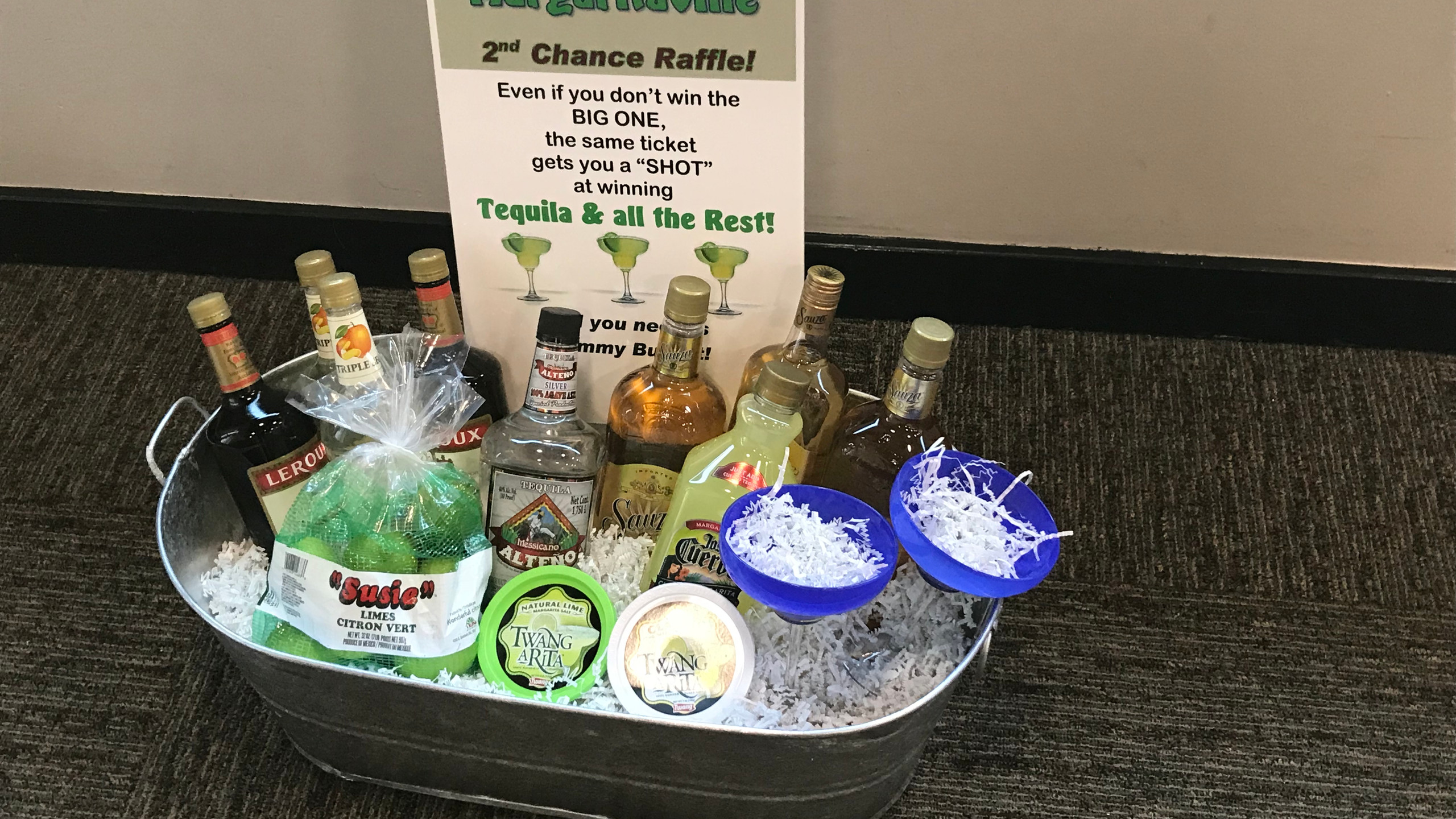 6-Second Chance Margarita Raffle