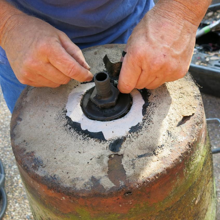10-Plumbing Repair on Vase