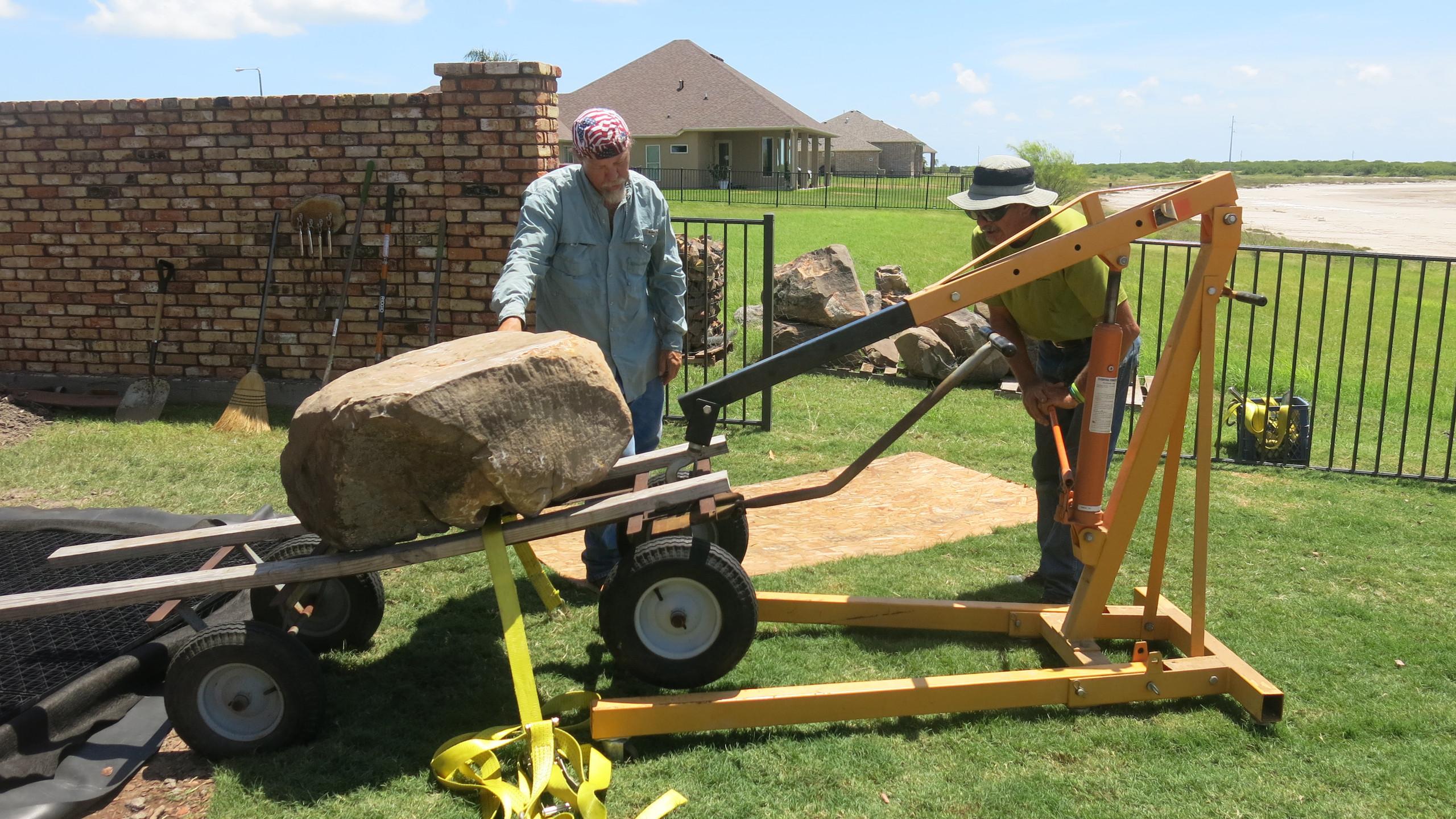 20-Moving Rock onto Wagon
