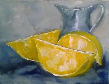 Lemons & Blue Jug