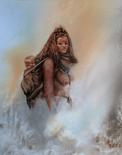 Himba Frau mit Kind