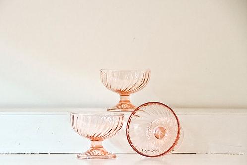 Blush Pedestal Bowls