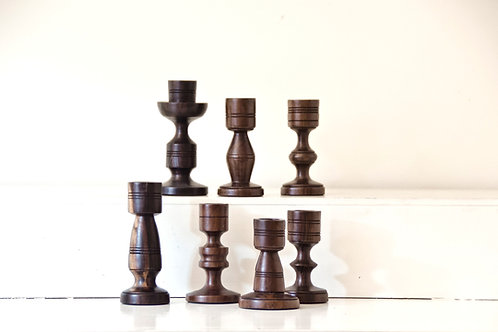 Totem Wooden Candle Holders