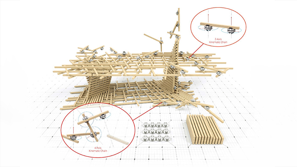 Distributed Robotic Assembly System for In-Situ Timber Construction