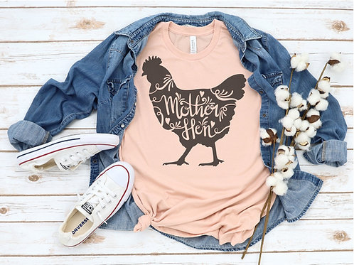 Mother Hen Printed Crew Tee