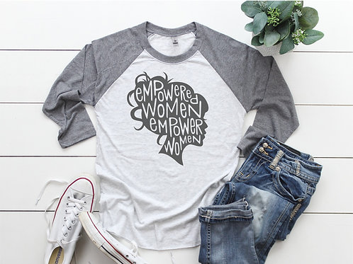 Empowered Women Printed Raglan