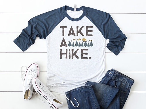 Take a Hike Printed Raglan