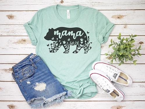Mama Bear Printed Crew Tee