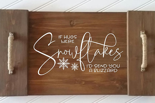 Snowflakes Serving Tray