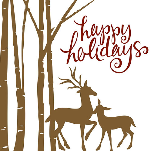 Happy Holidays with Deer