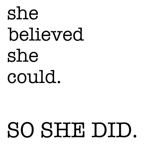 She Believed She Could PE