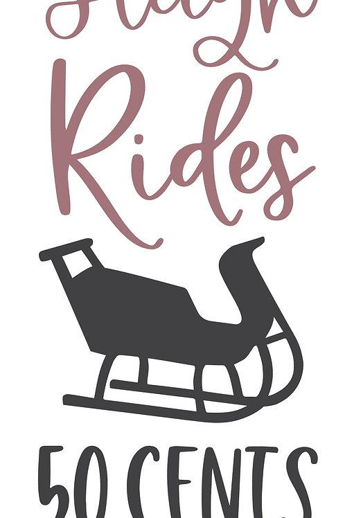 Horse Drawn Sleigh Rides Porch Sign