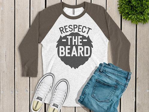 Respect the Beard Men's Printed Raglan