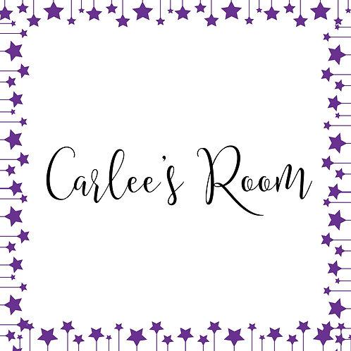 "Carlee's Room Custom 12""x12"""
