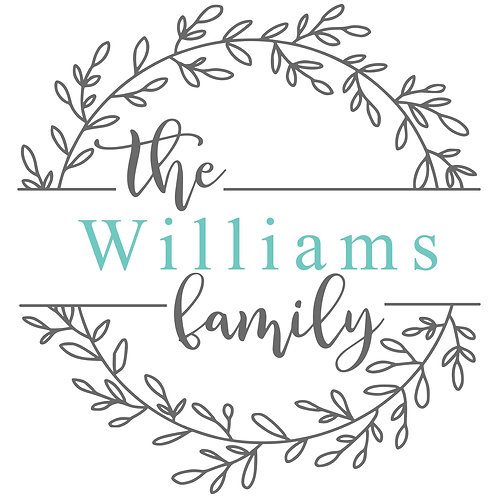 Personalized Family Wreath
