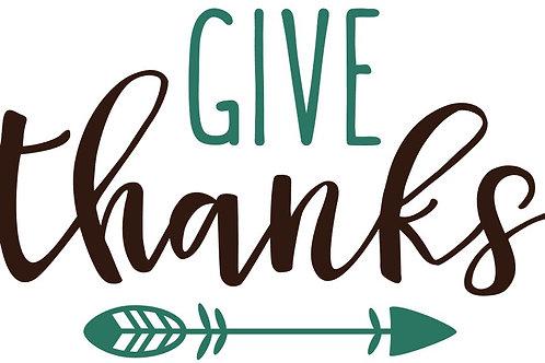 Give Thanks w/ Arrow MBC