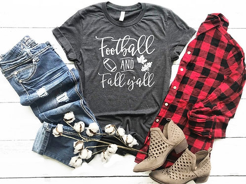 Football and Fall Crew Tee