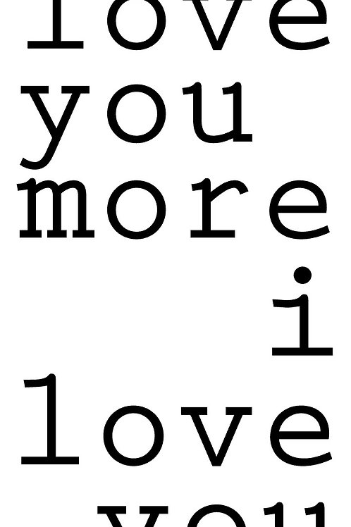 Love you More/Most Couple