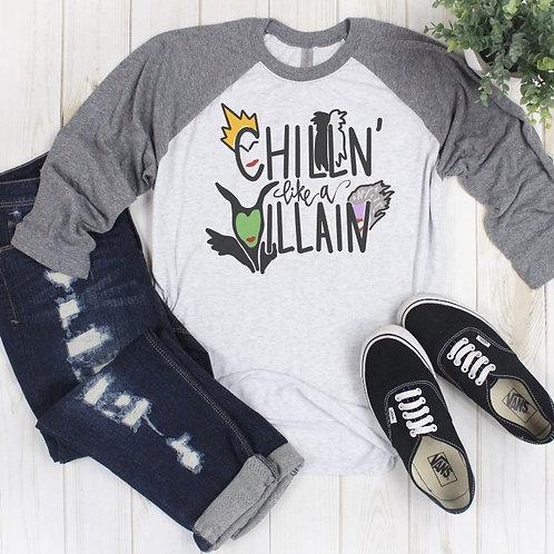 Chillin Printed Raglan