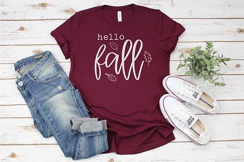 Hello Fall with Leaves Crew