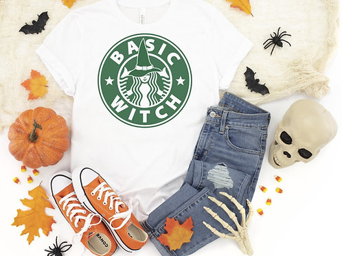 Basic Witch White Printed Tee