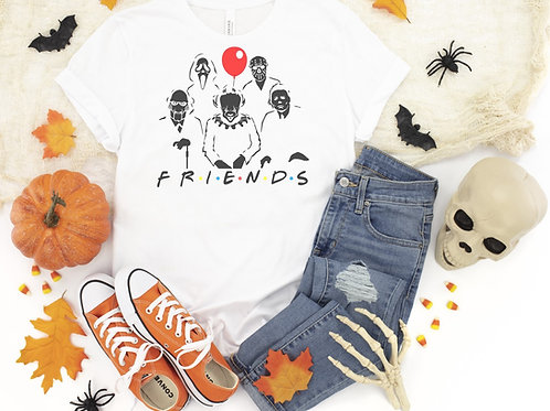 Friends Printed White Tee