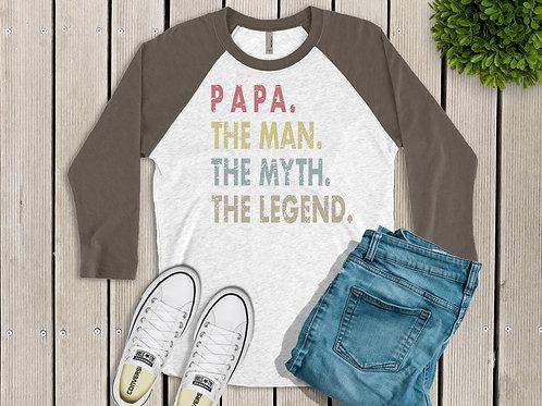 Papa Men's Printed Raglan