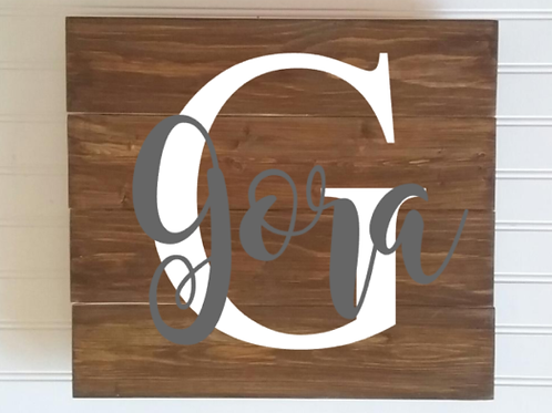 Personalized Name Sign on pallet board