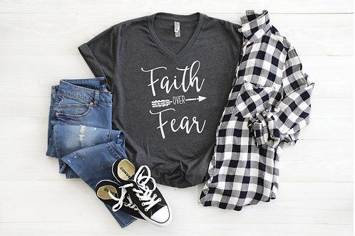 Faith Over Fear V-Neck