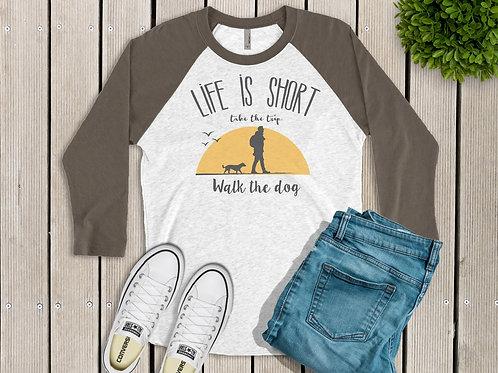Life is Short Printed Raglan