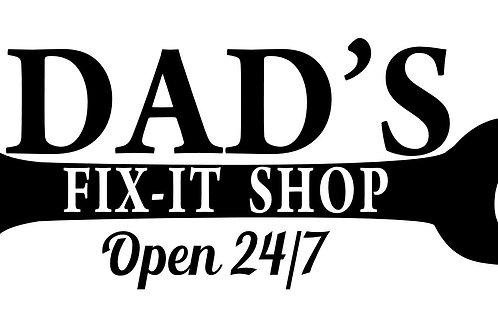 Dad's Fix it Garage