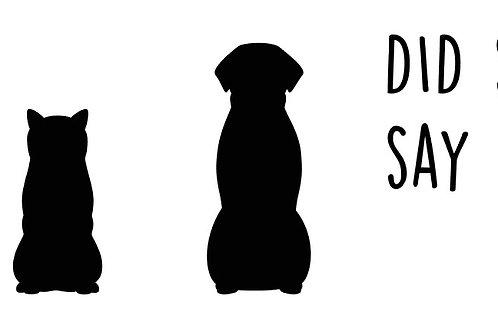 Large Dog Butts Custom Sign