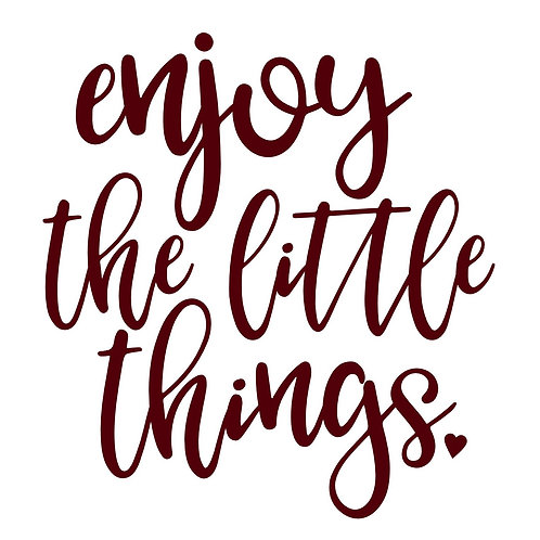 Enjoy the Little Things 4/24/19