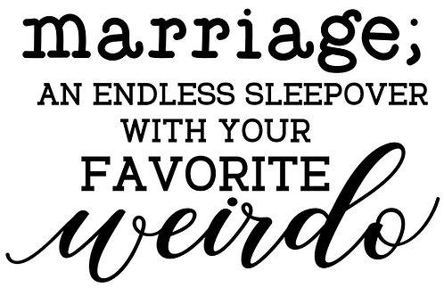 Marriage Sleepover