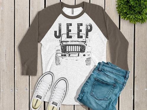Jeep Men's Printed Raglan