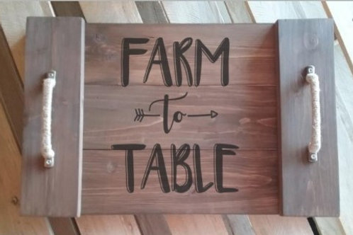 Farm to Table Serving Tray