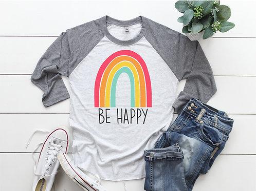 Be Happy Printed Raglan
