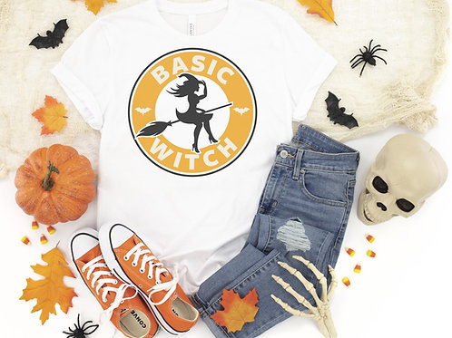 Basic Witch Printed White Tee