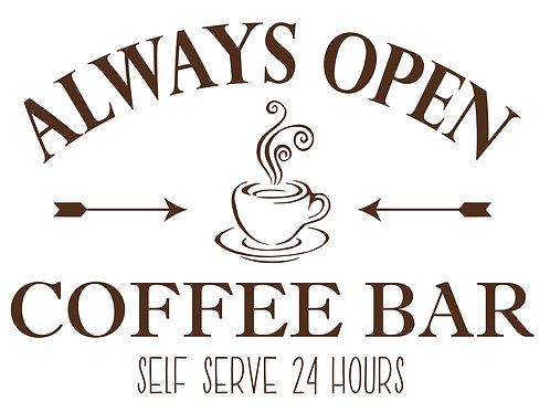 Always Open Coffee Bar PE
