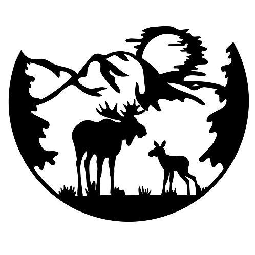 Moose Outdoor Scene