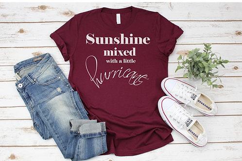 Sunshine Mixed With Hurrican Crew Tee