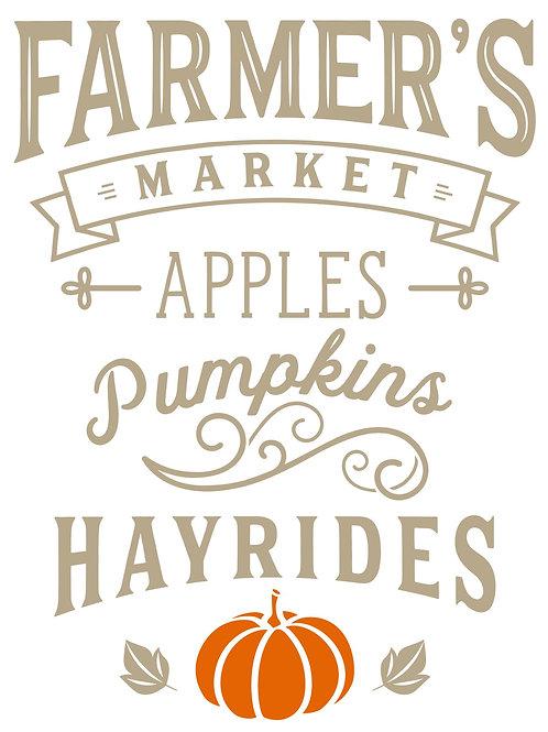 Farmers Market Apples Pumpkins