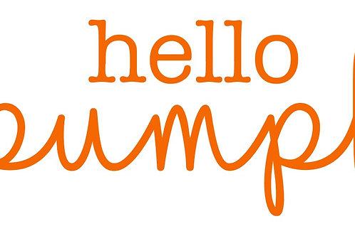 Hello Pumpkin 9/18/19