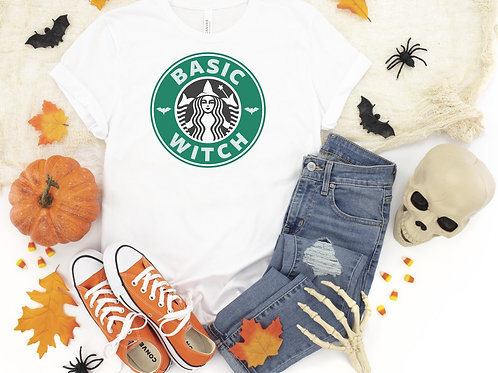 Basic Witch 1 Printed White Tee