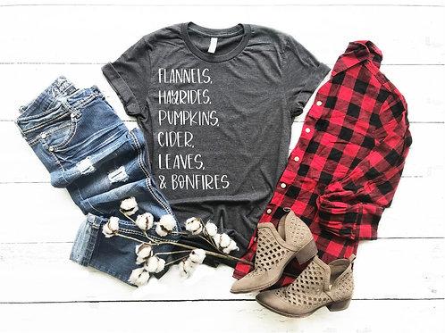 "Flannels & Bonfires ""Favorite"" Tee"