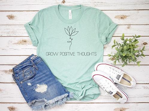 Grow Positive Thoughts Crew Tee